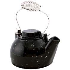 2 1/2 Quart Black Enameled Cast Iron Humidifier Kettle