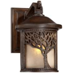 "Bronze Mission Style Tree 9 1/2"" High Outdoor Wall Light"