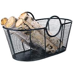 Small Steel Wire Basket Fireplace Wood Holder