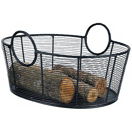 Large Steel Wire Basket Fireplace Wood Holder