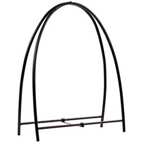 "Arch Black 47"" High Fireplace Log Holder"