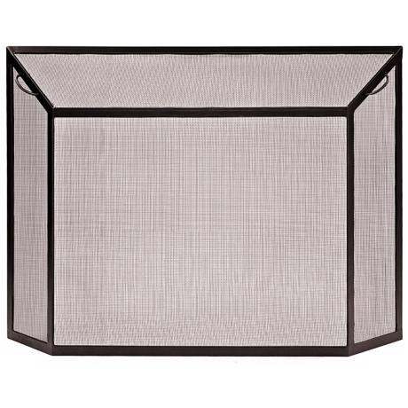 "Graphite 29 1/2"" High Fireplace Spark Guard Screen"