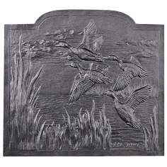 Migrating Ducks Fireplace Natural Cast Iron Fireback
