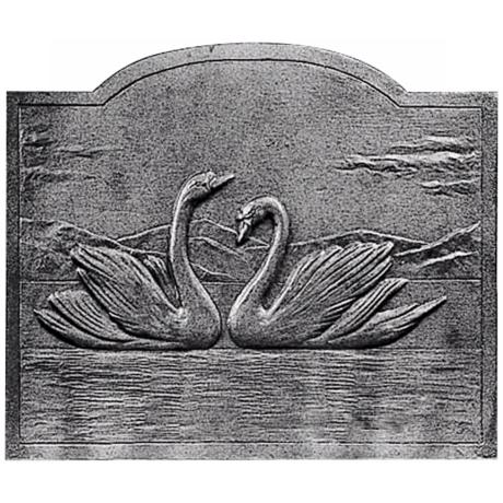 Les Cygnes Fireplace Natural Cast Iron Fireback