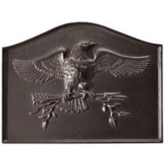 American Eagle Fireplace Natural Cast Iron Fireback