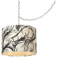 "Coco Beach 14"" Wide Brushed Nickel Pendant Swag Light"