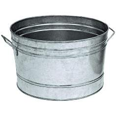 "Galvanized Steel 16 1/4"" Round Tub"
