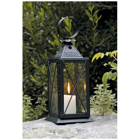 Raleigh Tavern Powder Coat Black Iron Lantern Candle Holder