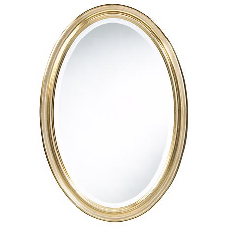 "Cooper Classics Gold Blake 31 1/2"" High Oval Wall Mirror"