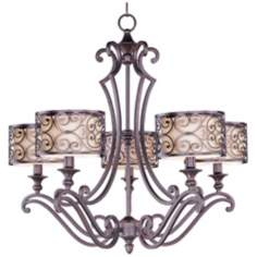"Maxim Mondrian 28"" Wide 5-Light Bronze Chandelier"