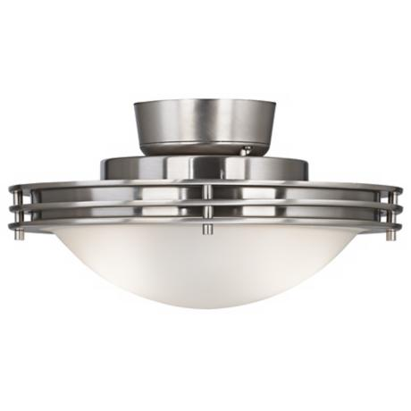Frosted Glass Bowl Brushed Nickel Universal Light Kit