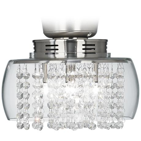 Possini Euro Design Crystal 11 Quot Round Ceiling Fan Light