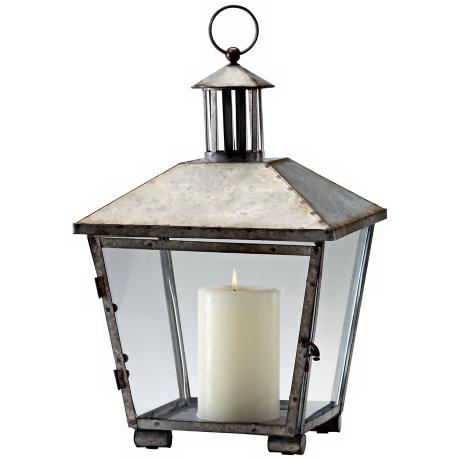 Delta Lantern Rustic Iron Candle Holder