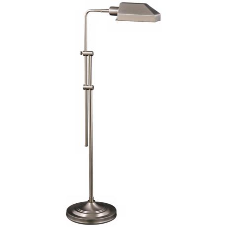 Westerly Satin Nickel Adjustable Pharmacy Floor Lamp