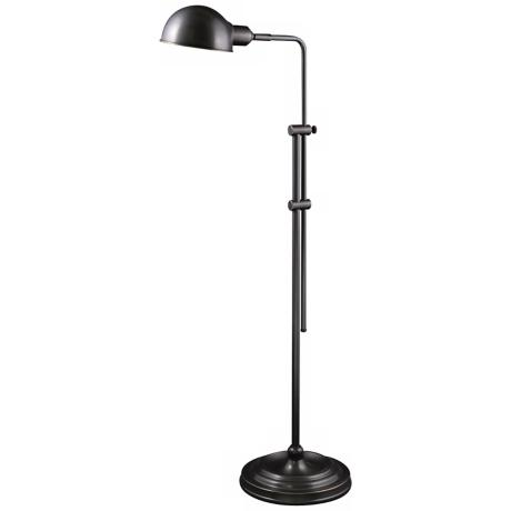 Wallis Mission Bronze Adjustable Pharmacy Floor Lamp
