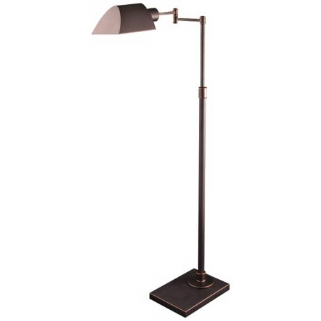 Orland Mission Bronze Adjustable Pharmacy Floor Lamp