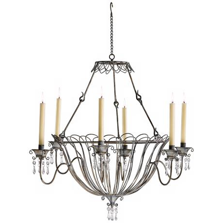 Somerset Rustic Iron Taper Candle Chandelier