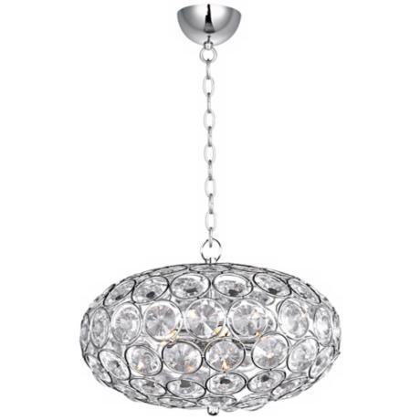 "ET2 Brilliant 16"" Wide 6-Light Oval Crystal Pendant Light"