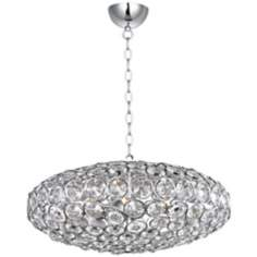 "ET2 Brilliant 24"" Wide 8-Light Oval Crystal Pendant Light"