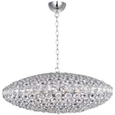 "ET2 Brilliant 34"" Wide 12-Light Oval Crystal Pendant Light"