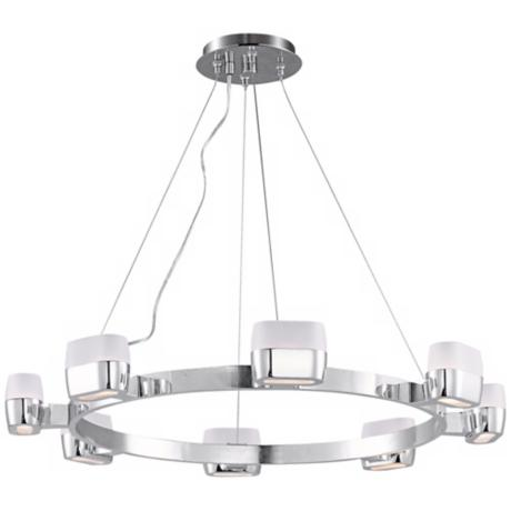 "ET2 Ellipse 28"" Wide 8-Light Polished Chrome Pendant Light"