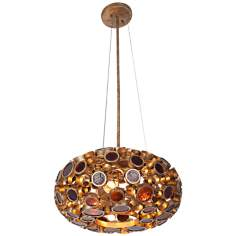 "Varaluz Fascination 18"" Wide Reclaimed Glass Chandelier"
