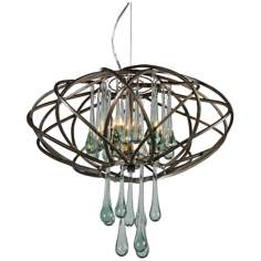 "Varaluz 18"" Wide Area 51 Recycled Glass Pendant Light"