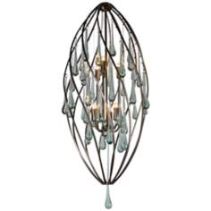 "Varaluz 36"" High Area 51 Recycled Glass Foyer Chandelier"