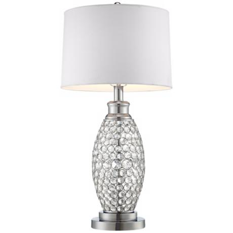 clearance floor lamps beaded crystal table lamp white