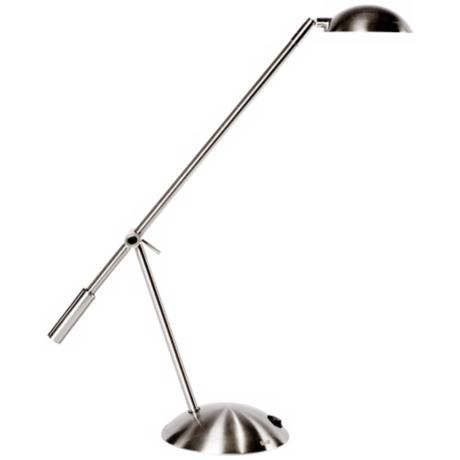 Mighty Bright LUX Dome Brushed Nickel LED Desk Lamp