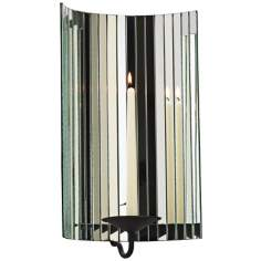 "Cosmo 17 1/4"" High Mirrored Candle Wall Sconce"