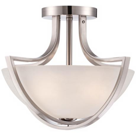"Transitional Brushed Nickel 18 1/2"" Wide Ceiling Fixture"