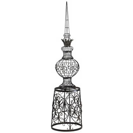 "Rustic Iron 60"" High Italian Spire"