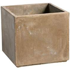 "Large Euro Box 12 1/2"" High Square Planter"