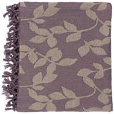Surya Timora Plum and Tan Throw Blanket