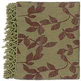 Surya Timora Green and Brown Throw Blanket