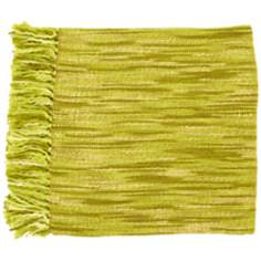 Surya Teegan Green and Ivory Throw Blanket