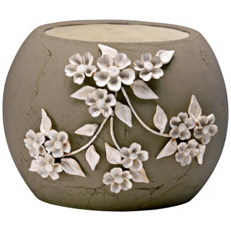 "Lily 8 3/4"" High Smoked Grey Decorative Planter"