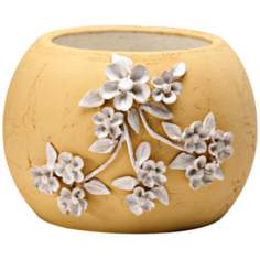 "Lily 7 1/4"" High Terra Cotta Decorative Planter"