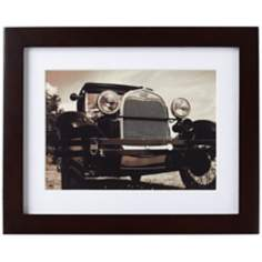 "Espresso Finish 8"" x 10"" High Wood Photo Frame with Mat"