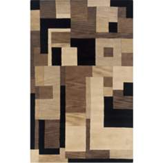 Craft Collection Tribeca Black Multi Area Rug