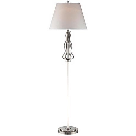 Abril Polished Steel Lite Source Floor Lamp