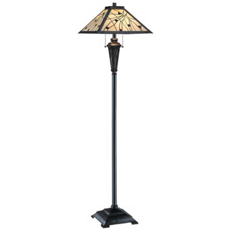 Lite Source Remus Mission Tiffany Style Floor Lamp