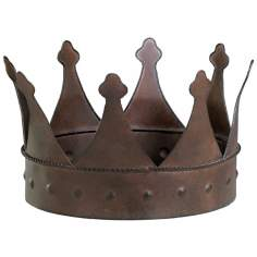 Aged Rust Iron Jester Crown