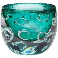 Small Bristol Turquoise Glass Vase