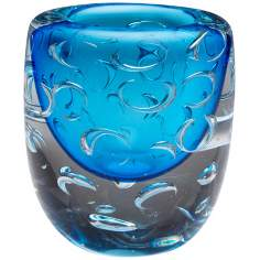 Large Bristol Cobalt Blue Glass Vase