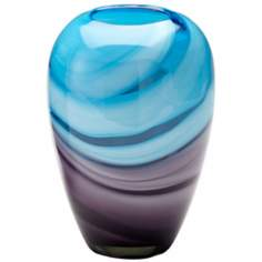 Callie Turquoise and Purple Glass Vase