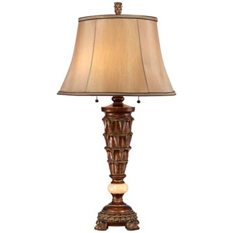 Possini Roman Bronze with Onyx Font Table Lamp