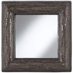 "Deep Bronze 32"" Square Mosaic Wall Mirror"