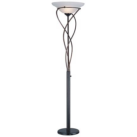 Lite Source Majesty Bronze Torchiere Floor Lamp